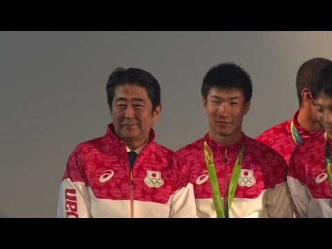 Olympics: Japanese PM congratulates Team Japan medalists