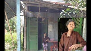 Bà cụ sống đơn chiếc trong căn nhà xiêu vẹo, tối đến khăn gói đi ngủ nhờ vì sợ nhà sập