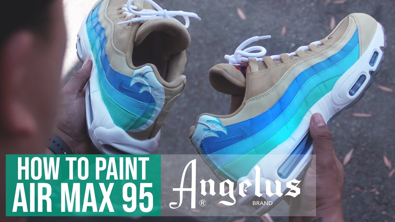 official photos 02e13 c1d3a Custom Nike Air Max 95   Angelus Paints. Angelus Shoe Polish