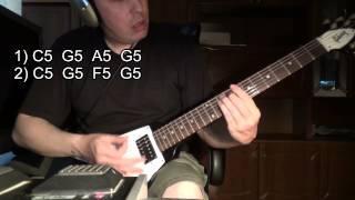 Как играть ПАНК - РОК на электрогитаре (РИФ)