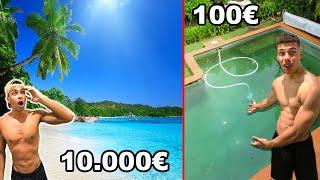 10.000€ URLAUB VS 100€ URLAUB !!! | PrankBrosTV