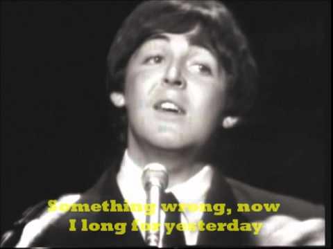 The Beatles YesterdayWith Lyrics