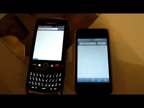 Blackberry Torch 9800 vs iPhone 4 Browser Test #2 (www.crackberry.com)
