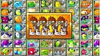 Every Plant Power-Up! Plants vs Zombies 2 vs Chicken Wrangler Zombie