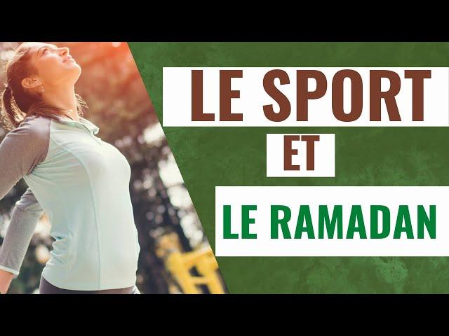 Le sport et le ramadan