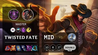 Twisted Fate Mid vs Galio - KR Master Patch 10.13