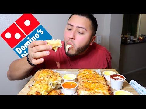 Dominos Cheesy Bread Mukbang