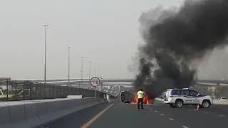 Road accident in dubai