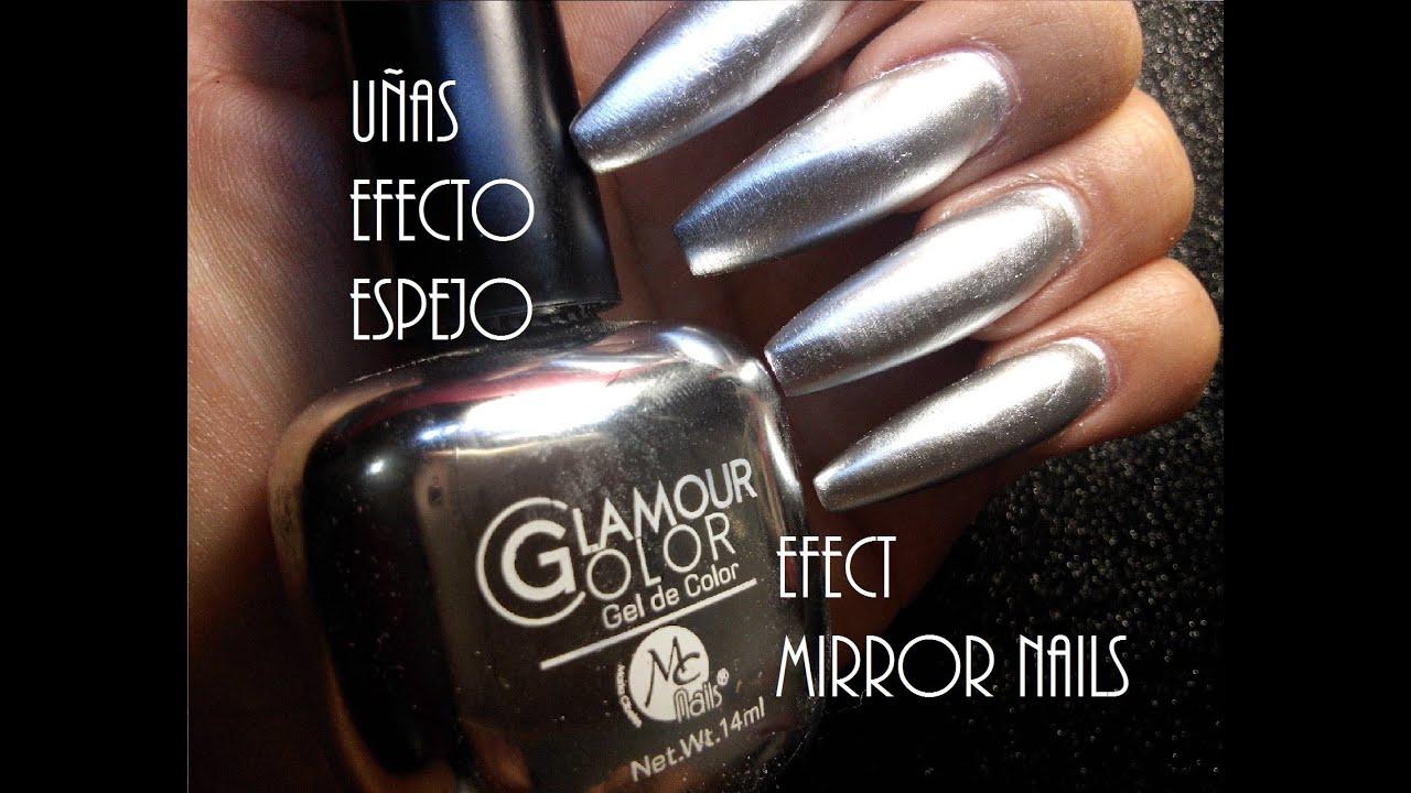 Uñas Efecto Espejo/ Efect Mirror Nails - YouTube