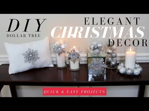 DIY ELEGANT CHRISTMAS DECORATIONS | DOLLAR TREE CHRISTMAS DIY