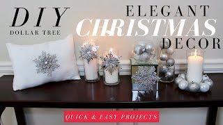 DIY ELEGANT CHRISTMAS DECORATIONS | DOLLAR TREE CHRISTMAS DIY