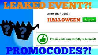 *HALLOWEEN SHADES* EVENT/PROMOCODES LEAKS!   ROBLOX