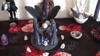 Ogham Huath Hawthorn Altar