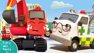 Sick Song! Digley & Dazey | Construction Vehicles For Kids! Nursery Rhymes | Little Baby Bum