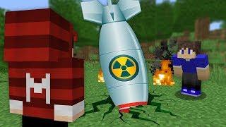 ⚠️ ENCONTRAMOS UM BOMBA NUCLEAR NO MINECRAFT 💥😱 (SUPER PERIGOSA)