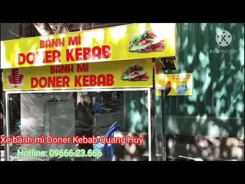 Xe Bánh Mì Doner Kebab [Đẹp + Rẻ] Mới Nhất 2020   Quang Huy Nhận Thiết Kế Theo Yêu Cầu