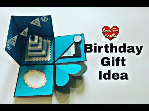 Diy Birthday Gift Ideas How To Make Birthday Explosion Box Birthday Giftbox Youtube