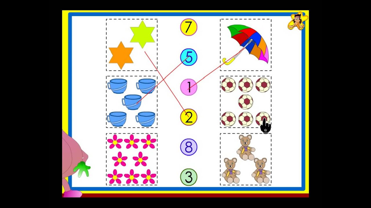 Counting worksheets for kids - practise counting up to 10 - YouTube