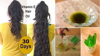 Homemade Vitamin E Hair Oil to Regrow Long thick Hair fast Coconut oil, Amla oil