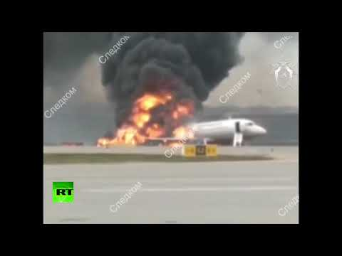 RAW: Passenger Jet Is On Fire At Moscow Airport Following Crash-landing