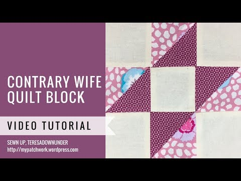 Contrary wife video tutorial - Mysteries Down Under quilt