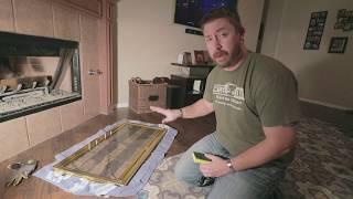 DIY: Updating Fireplace Brass Doors