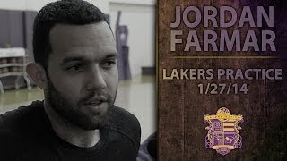 Lakers Practice: Jordan Farmar Hamstring Injury Update, Talks Team
