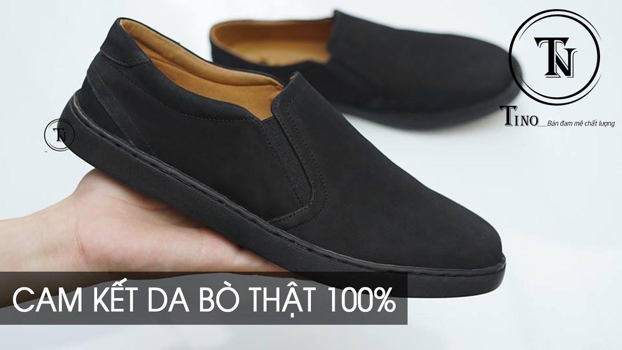 Giày lười da lộn GL32 – Giày Slip On da bò tấm cao cấp, thiết kế trẻ trung, năng động, thời trang