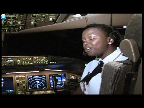 Captain Mwangi and his daughter flying KQ together