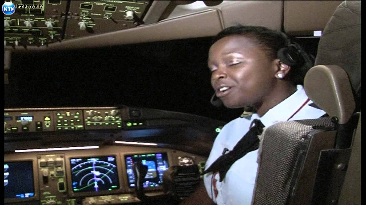 Captain Mwangi and his daughter flying KQ together - YouTube
