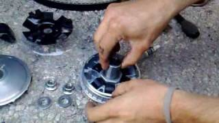 montage vario Malossi (ancienne référence !) SYM GTS 125