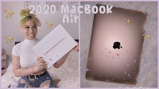 Macbook air unboxing and setup 2020  💻📲