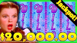 $20,000.00! The BEST WIZARD OF OZ Slot Machine Bonus JACKPOTS On Youtube!