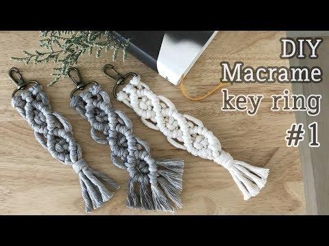마크라메 키링 #1 / DIY Macrame Key ring