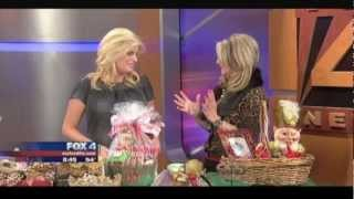 Donna Moss Donna Decorates Dallas How To Gift Wrap Glitter And Gold For Christmas Gift Baskets