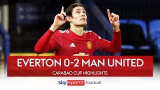 Man United reach semi-finals as Cavani & Martial score! | Everton 0-2 Man United | Carabao Cup