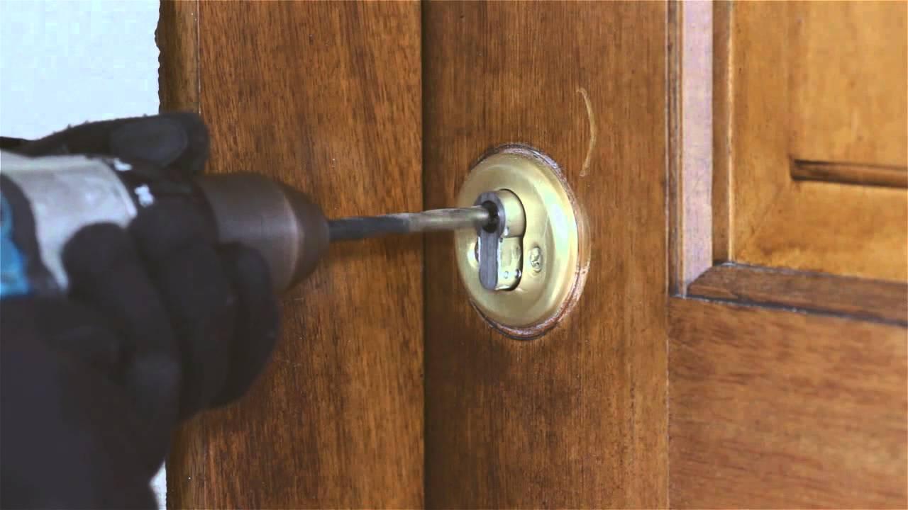 como abrir cerradura con un taladro