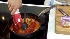 Lihapullat, spagetti ja tomaattikastike