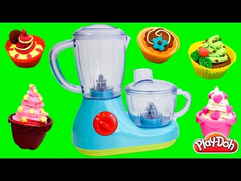 Just Like Home Cooking Playset Toy Review - How to Make Cupcakes & Cake w/ Play Doh