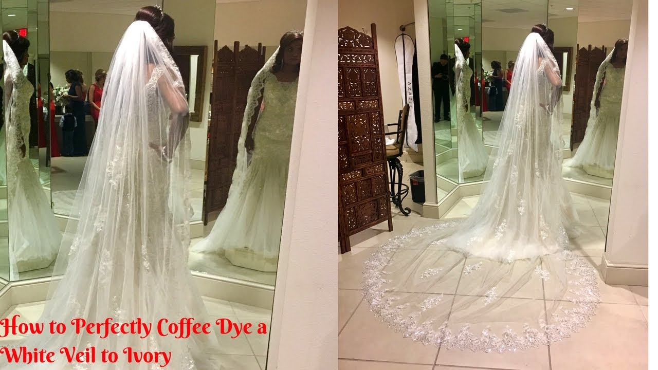 Dying Wedding Veil from White to Ivory with Coffee Instead of Tea ...