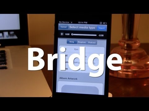 Bridge - Download Songs to Music Library on iPhone