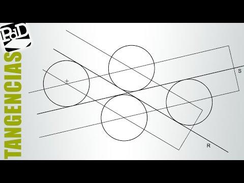 Circunferencias tangentes a dos rectas que se cruzan, conociendo el radio.