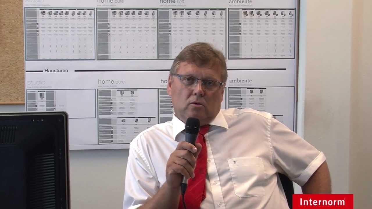 Helmut berger leitung vertriebslogistik youtube for Internorm fenster