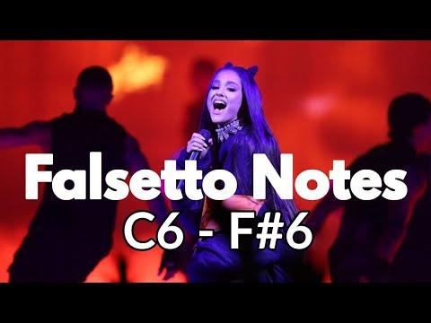 Ariana Grande - INCREDIBLE 6th Octave Falsetto Range! (C6-F#6!)