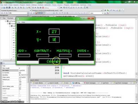 C++ Tutorial - Using wxWidgets, Codeblocks, & C++ to write a calculator with GUI Part 3
