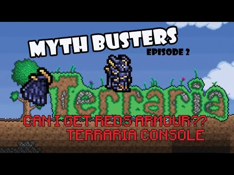 RED'S ARMOR XBOX TERRARIA?!?! | MYTH BUSTERS TERRARIA | EPISODE 2