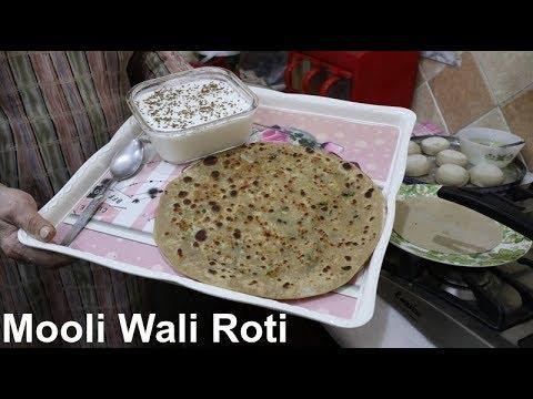 Mooli Wali Roti | Shallow Fried Stuffed Flat Bread