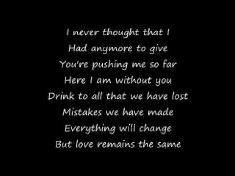 Love Remains the Same (With Lyrics) - Gavin Rossdale