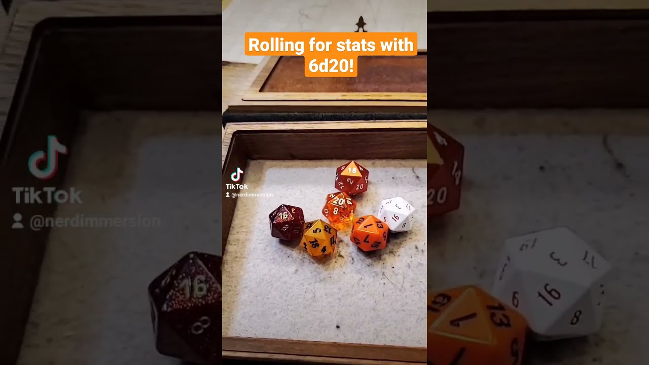 Rolling D&D Stats with 6d20? | Nerd Immersion
