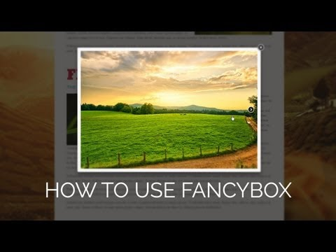 How To Use fancyBox | Dreamweaver CS6 Tutorial